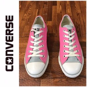 Pink & Grey Leather Converse Joanie Sneakers